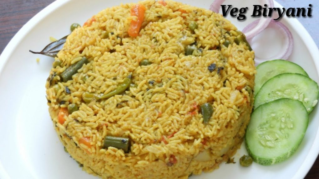 Veg Biryani in Kannada | ವೆಜ್ ಬಿರಿಯಾನಿ | Quick Vegetable Biryani Recipe in Kannada | Rekha Aduge