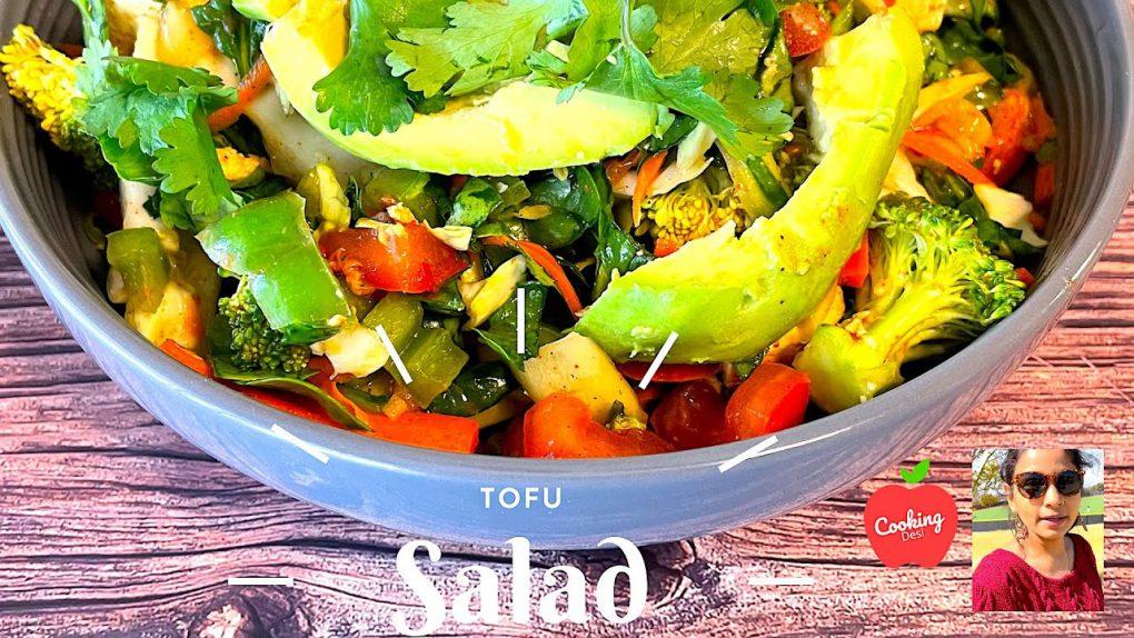 Tofu Vegetables Salad Recipe | Cooking Desi