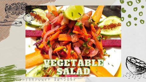 ಆರೋಗ್ಯಕರ ವೆಜಿಟೇಬಲ್ ಸಲಾಡ್/ Healthy vegetable salad recipe /healthy salad.