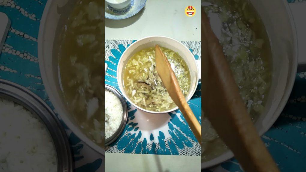 DIY Shiitake Cabbage Congee|素食香菇高麗菜粥|Porridge|Vegetarian Recipes#Shorts