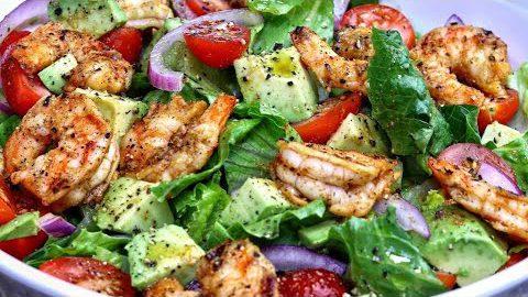 Grilled Shrimp and Avocado Salad | Fresh Shrimp Salad Recipe