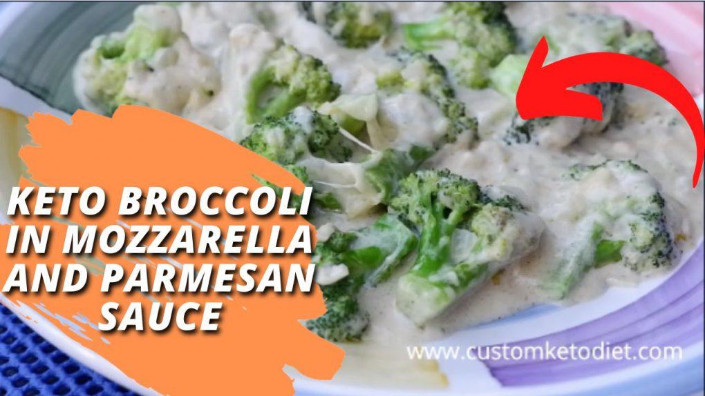 KETO BROCCOLI IN MOZZARELLA AND PARMESAN SAUCE | Simple and Easy Keto Recipes
