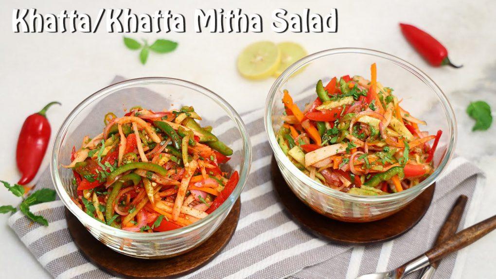 Tangy Kachumber Salad n Tangy Khatta Meetha Salad | Easy Salad Recipe | Chetna Patel Recipes