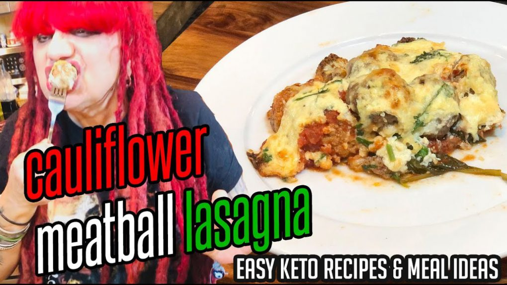 Keto Baked Cauliflower Meatball Lasagna (Oven Roasted + Keto Recipes + Low Carb)
