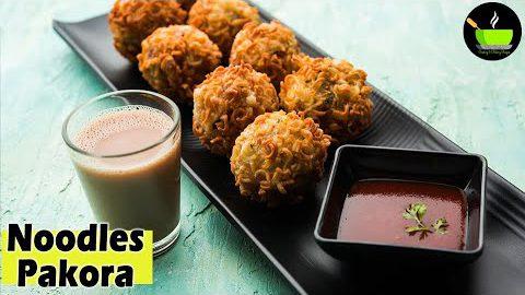 Veg Noodles Pakora Recipe | Maggi Pakora | Maggi Pakoda Recipe | Noodles Fritters | Teatime Snacks