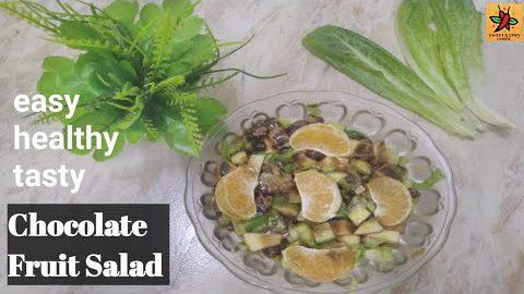 Chocolate Fruit Salad/Fruits&Veg Salad/Easy Salad/Healthy Recipe/Salad Recipes