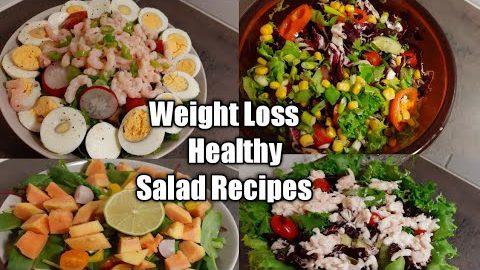 Salad Recipes For Waight Loss || 4 Healthy Salad Diet  Recipes || Salad Recipes to Lose Waight