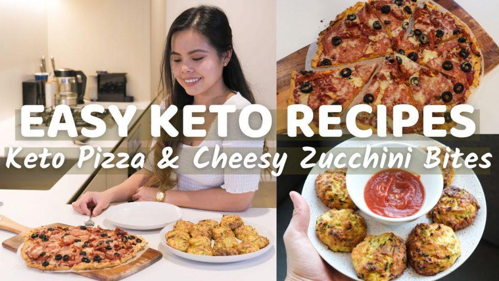 EASY KETO RECIPES | LOW CARB (Keto Pizza, Cheesy Zucchini Bites)