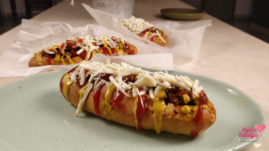 Veg HotDogs Recipe | Vegetarian HotDog Recipe | HotDog Recipe | AnjalisBakeAffair