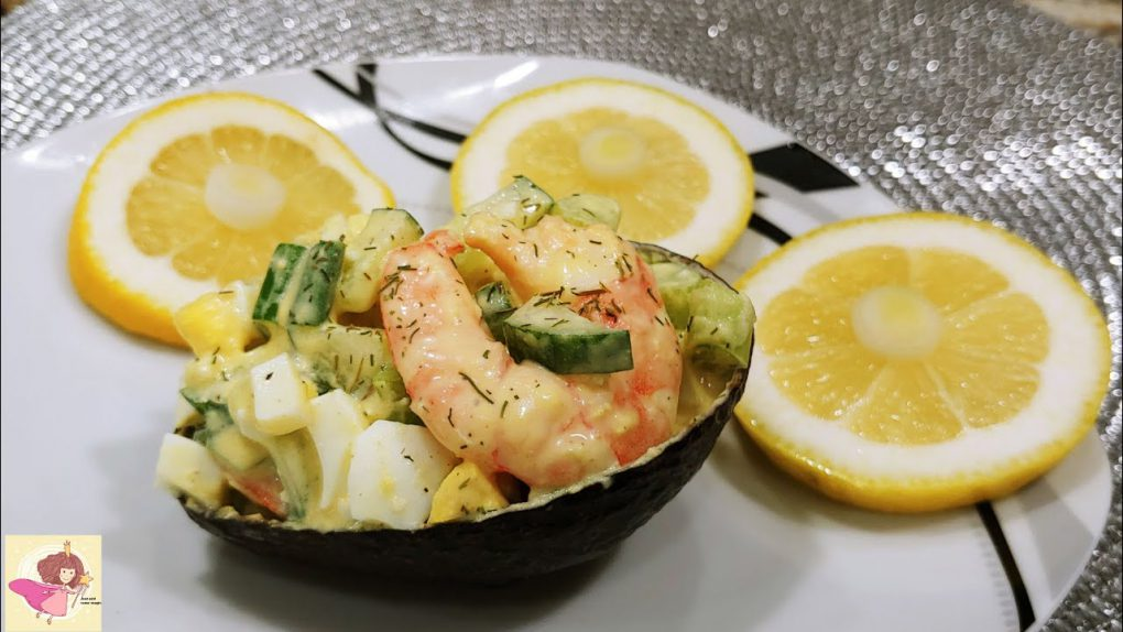 SHRIMP SALAD | Shrimp salad recipe without mayo in AVOCADO shell