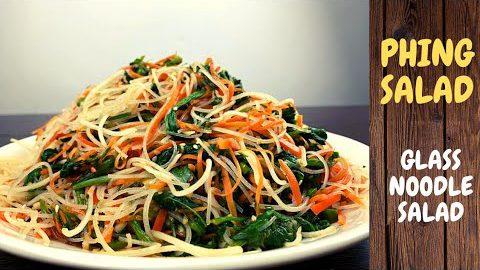 Phing Salad  Recipe ཕིང་ཚལ།  Tibetan phing salad