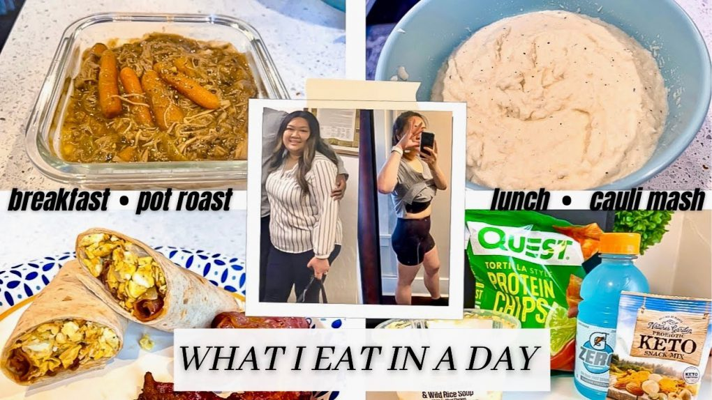 WHAT I EAT IN A DAY LOW CARB | STEP BY STEP RECIPE ON HOW TO MAKE CAULI MASH! SO DELICIOUS!