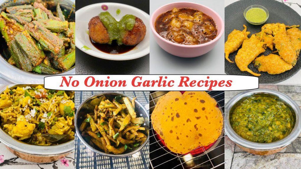 8 veg no onion garlic recipes l Tasty recipes without onion garlic