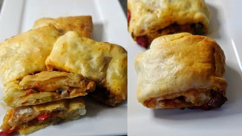 Vegetarian Puff Pastry Rolls, Easy Appetizer Recipe