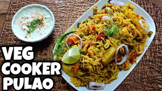 Veg-Cooker Pulao Recipe | Tasty & Easy to make Veg Pulav | Home Made Veg Pulao