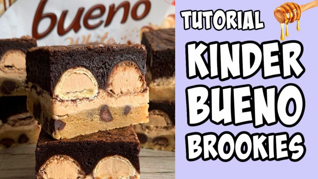 Kinder Bueno Brookies! Recipe tutorial #Shorts