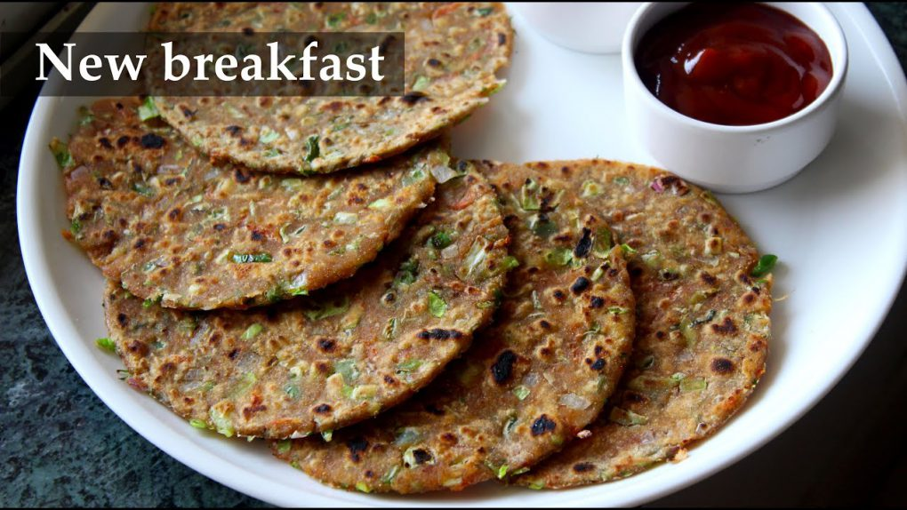 ಹೊಸ ರೆಸಿಪಿ…| New breakfast recipe Kannada | Light dinner recipes | Healthy quick veg paratha wheat