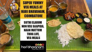Haribhavanam Coimbatore VEG MEALS | Awesomatically Amazing | Cook With Doode