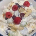 Fruit Salad Recipe with Whipped Cream.