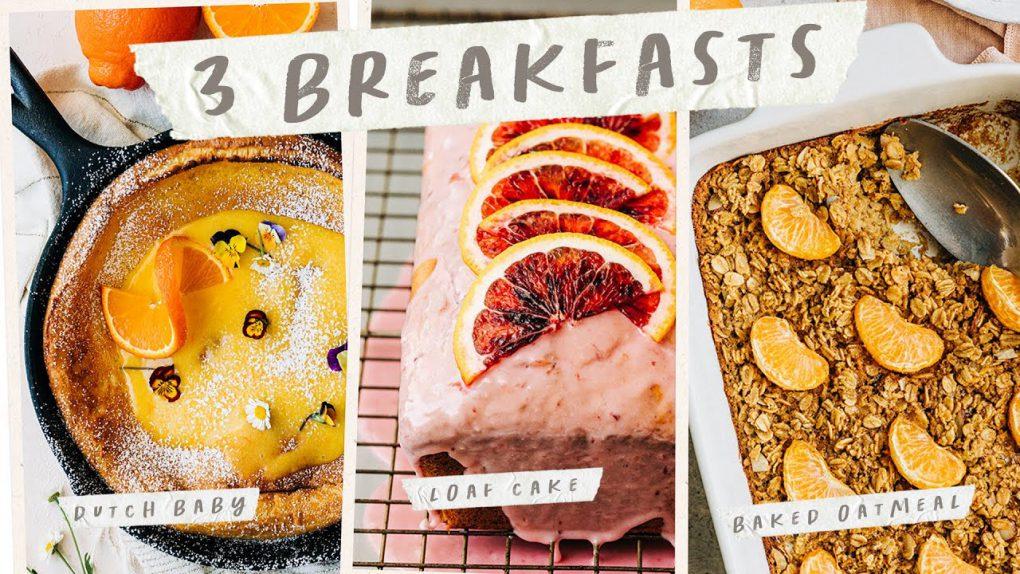 3 Easy BREAKFAST IDEAS – Simple Breakfast Recipes