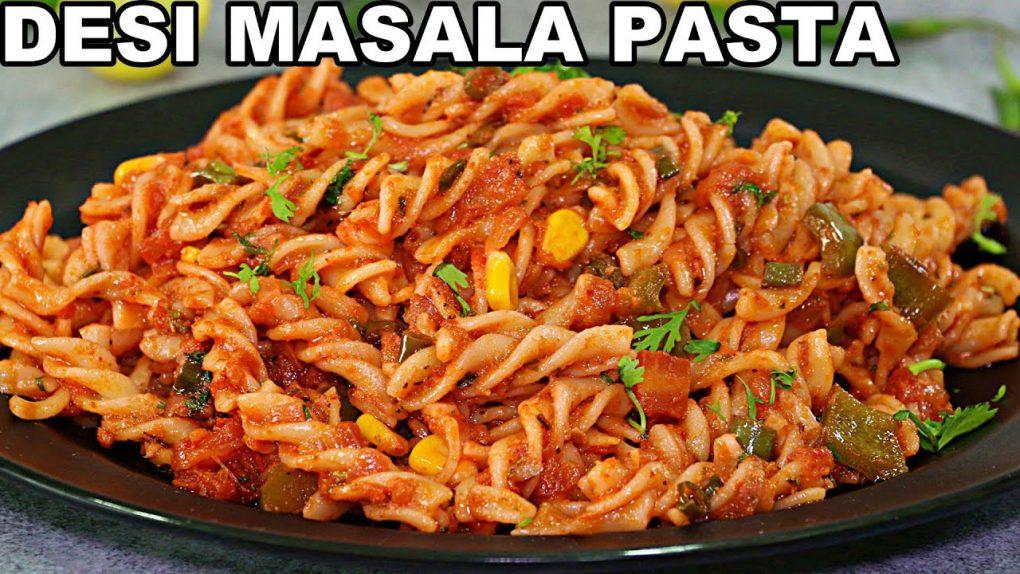 Desi Masala Pasta – Indian Style Pasta Recipe | Quick Masala Pasta Recipe
