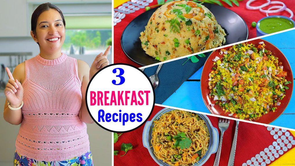 3 Easy BREAKFAST Recipes    CookWithNisha