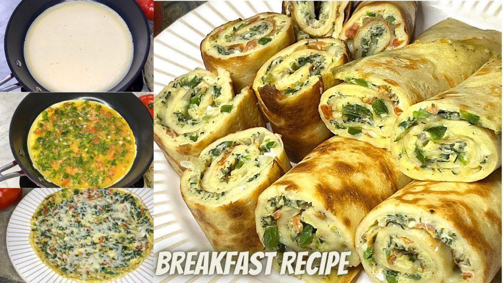 Quick & Easy Breakfast Recipe | Vegetable Egg Roll Recipe | Easy Egg Paratha Recipe | One Pan Recipe