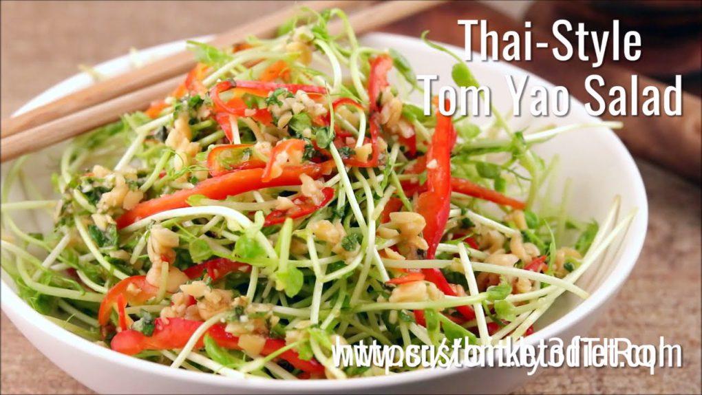 Keto Thai Style Tom Yao Salad l  Easy Keto Recipes