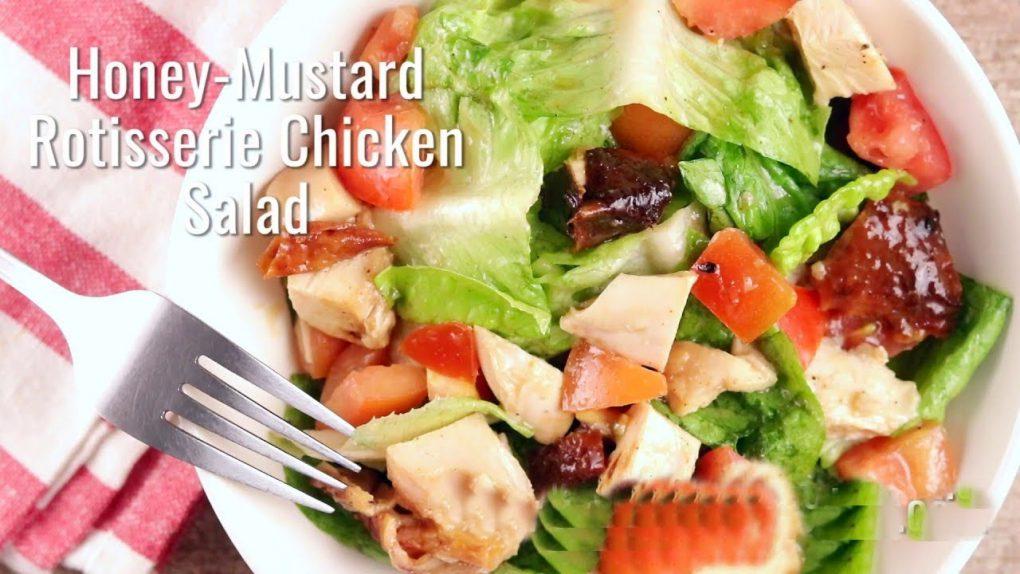 Keto Diet Recipes (Part 81): Keto Honey-Mustard Rotisserie Chicken Salad