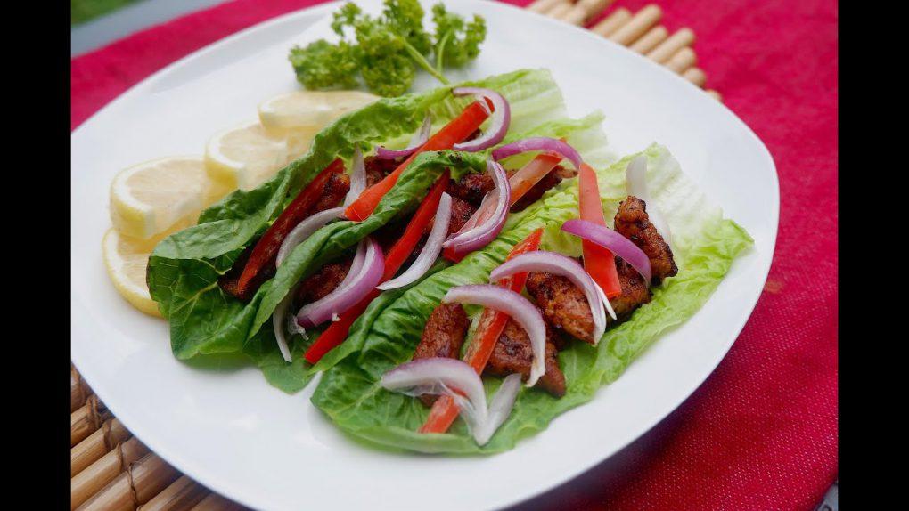 Keto Diet Recipes (Part 77): Keto Pork Fajita Lettuce Wrap