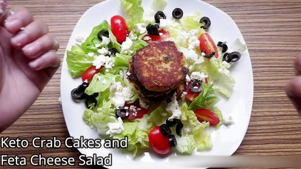Keto Diet Recipes (Part 89): Keto Crab Cakes and Feta Cheese Salad