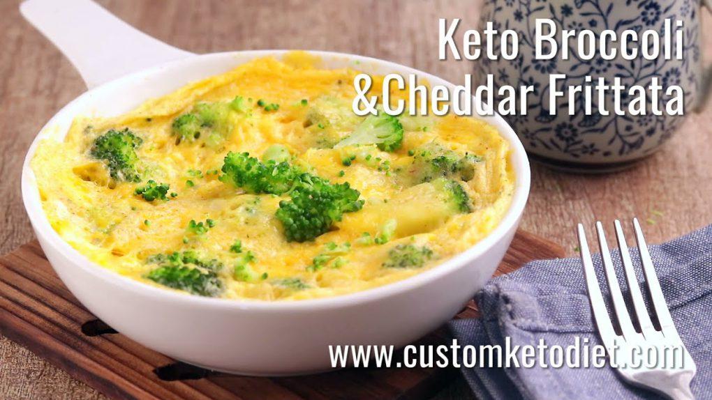 Keto Broccoli and Cheddar Frittata Recipe