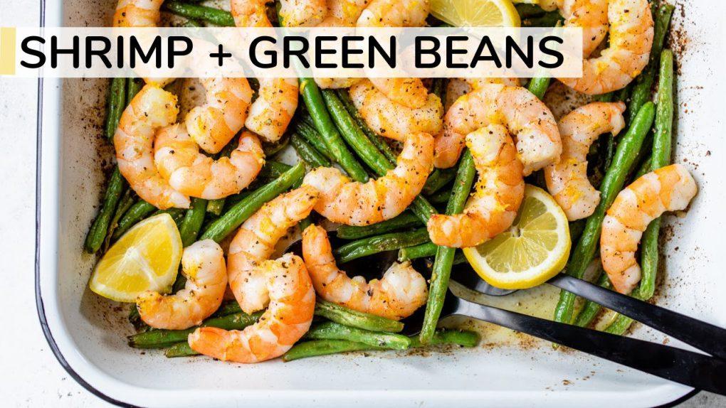 SHRIMP AND GREENS BEANS RECIPE | easy, healthy dinner idea