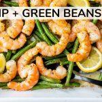 SHRIMP AND GREENS BEANS RECIPE   easy, healthy dinner idea