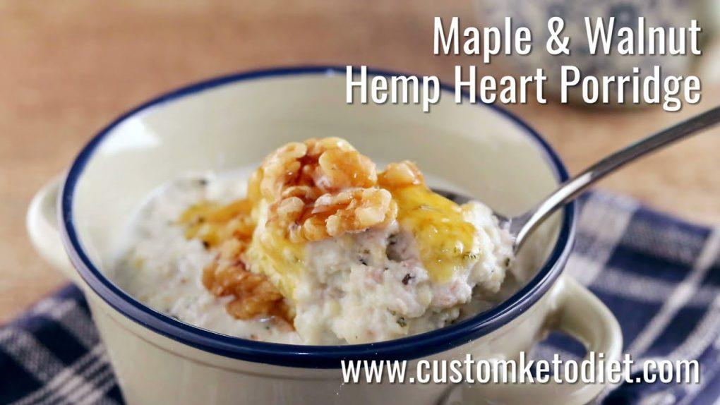 Keto Maple & Walnut Hemp Heart Porridge Recipe