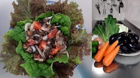 Eggplant Salad (Sri Lankan Recipe)- なすのサラダ(スリランカのレシピ)-බටු සළාදය
