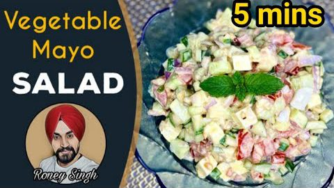 Vegetable Mayo Salad | Very Easy Keto Salad recipe | keto recipe | Healthy Salad recipe |