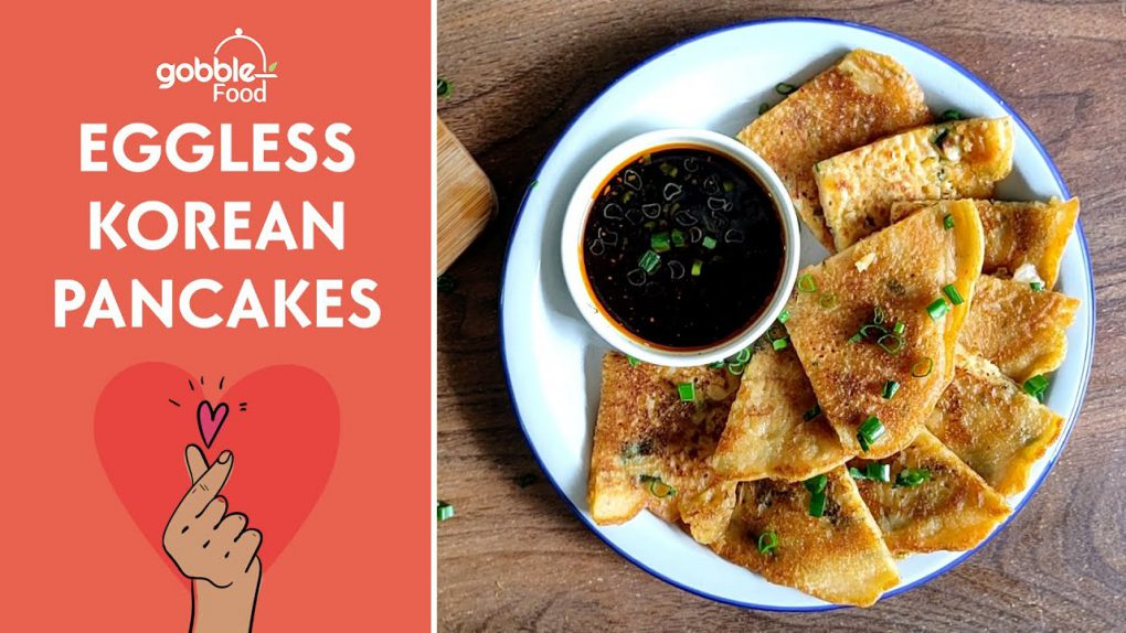 The Best Korean Eggless Pancakes!   Kimchi Pancakes   Breakfast Recipes   Gobble