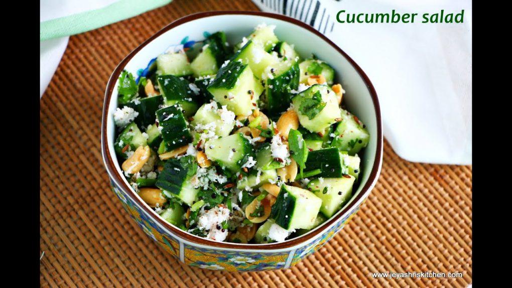 Maharashtrian style Cucumber salad – Indian salad recipes – No-cook salad recipes