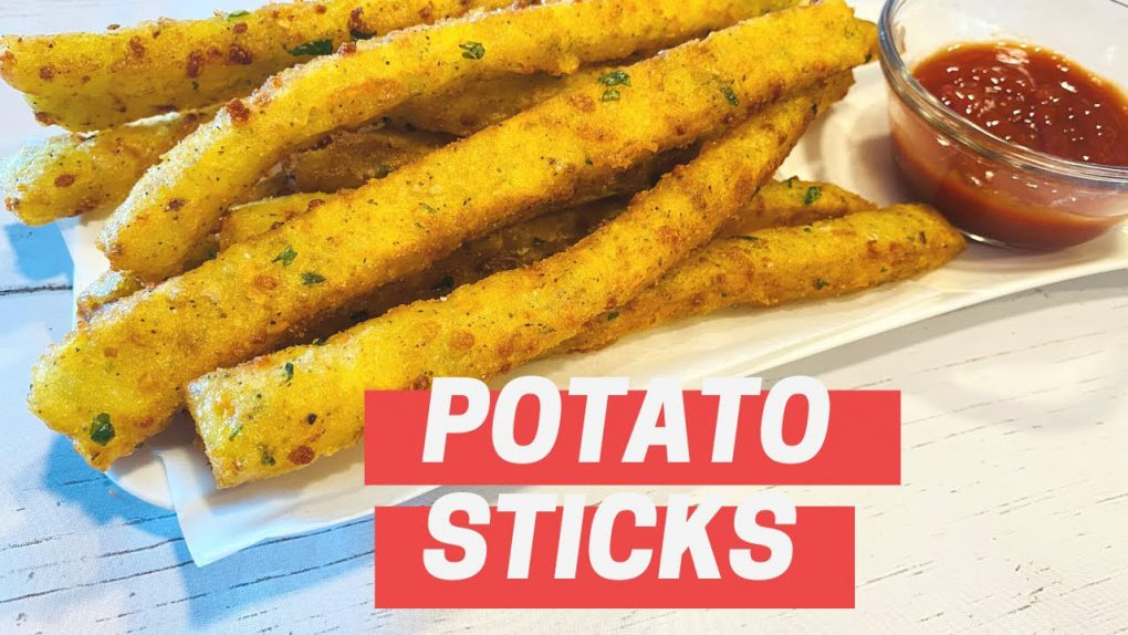 Potato Sticks Recipe – Cheesy Potato Sticks – A Perfect Appetizer Recipe