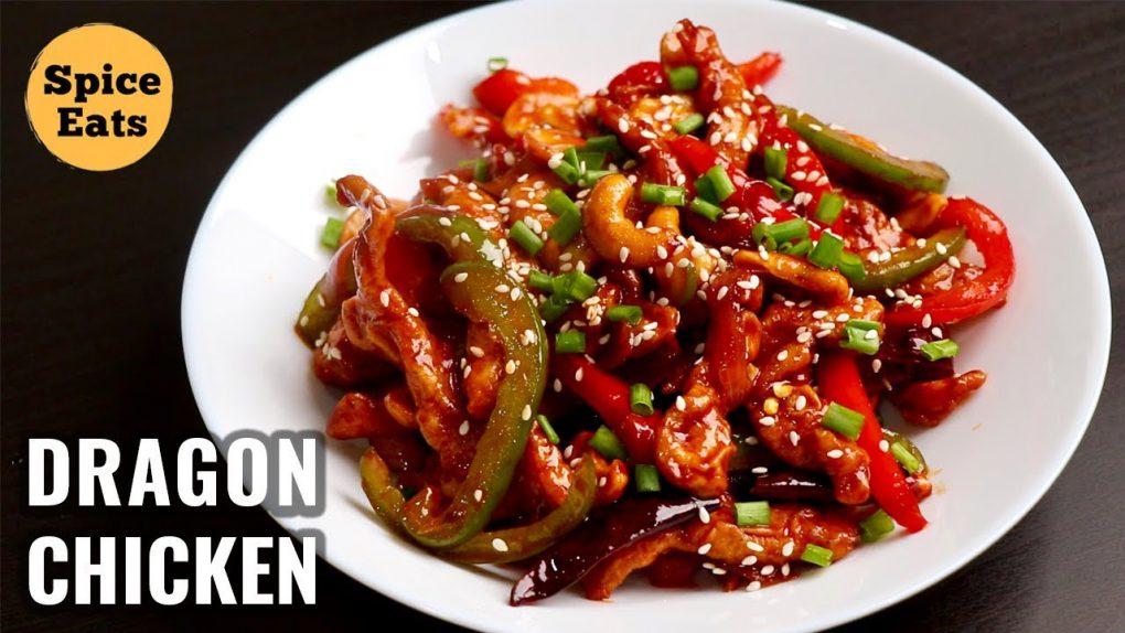DRAGON CHICKEN   INDO CHINESE STARTER RECIPE   RESTAURANT STYLE DRAGON CHICKEN