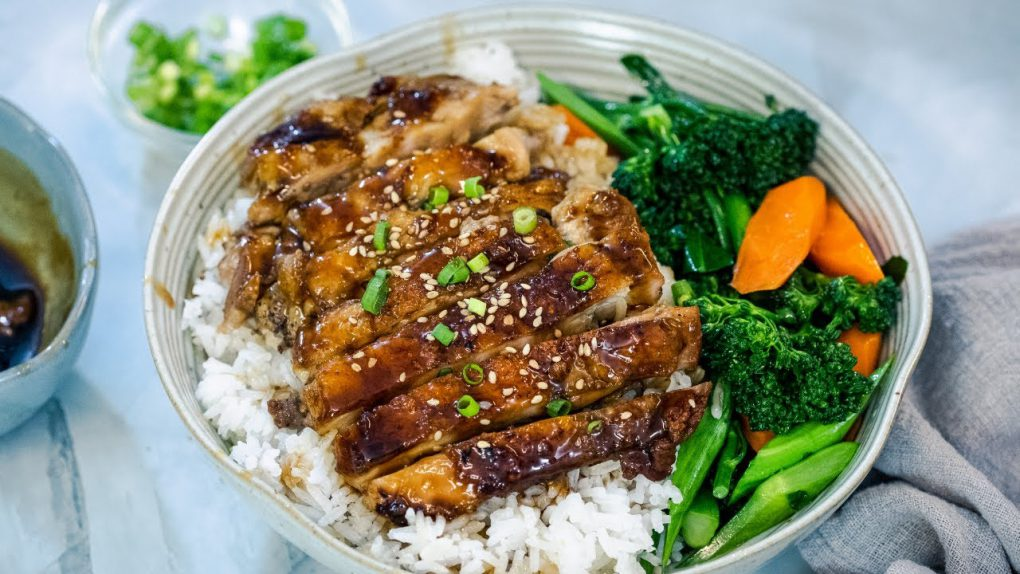 Easy Teriyaki Chicken Rice bowl (蜜汁鸡扒饭)