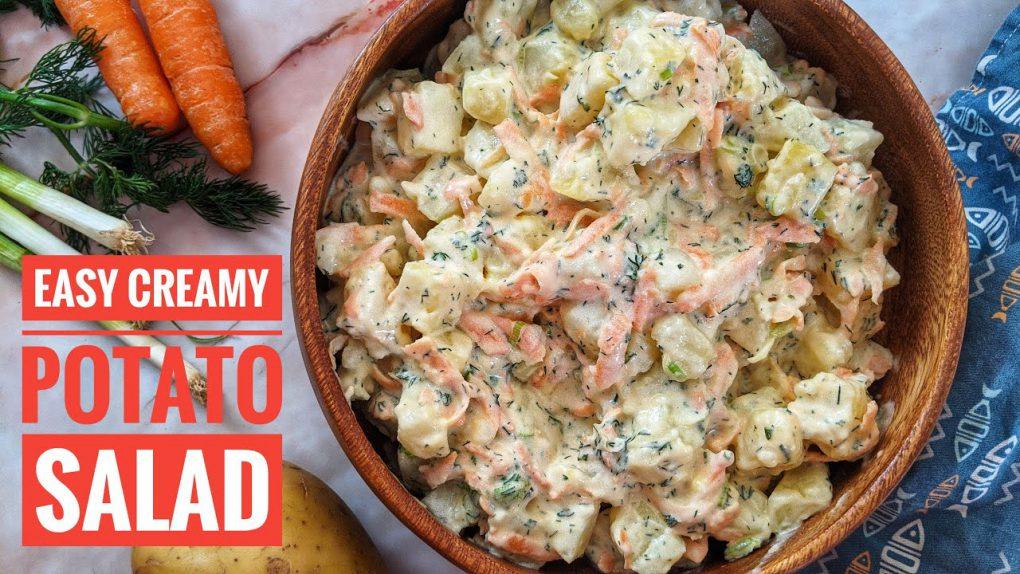 Easy Mayo Potato Salad Recipe   Creamy & Delicious Salad or Side dish