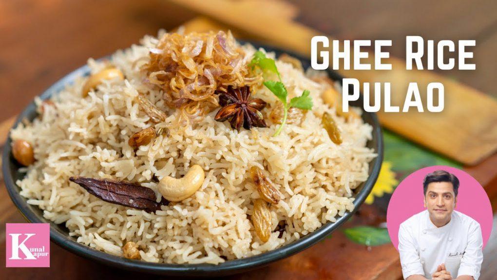 Ghee Rice Pulao Recipe   Neychoru Recipe   Veg Pulav Recipe   Nei Choru   Kunal Kapur Rice Recipes