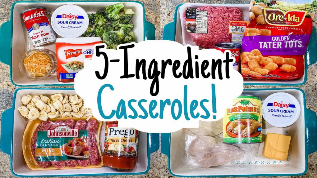The EASIEST 5 Ingredient Casserole Dinners   5 Quick & CHEAP Recipe Ideas   Julia Pacheco