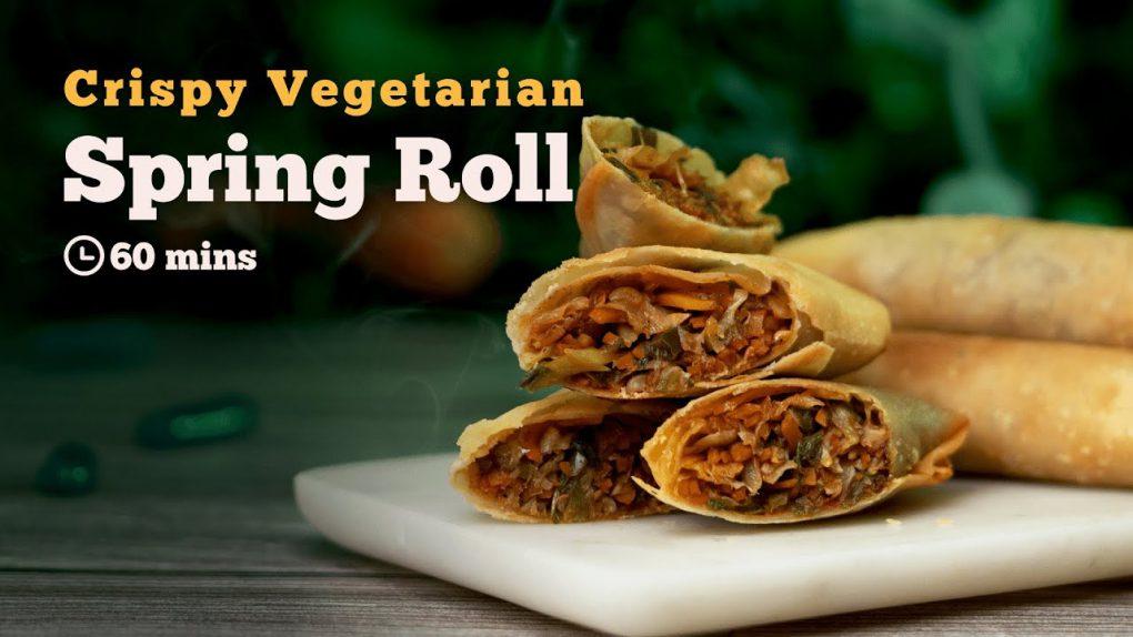 Spring Roll Recipe   Vegetarian Spring Roll   How to make Spring Roll   Crispy Spring Roll   Cookd