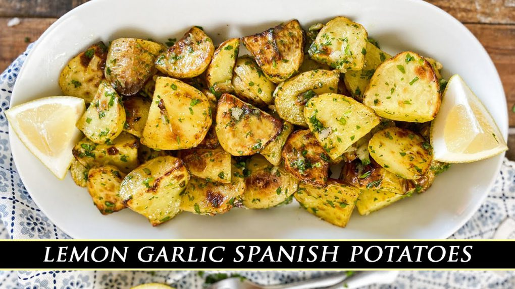 Lemon Garlic Spanish Potatoes   Easy & Delicious Potato Side Dish