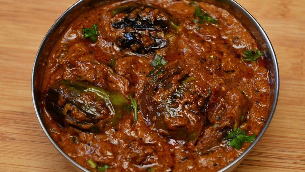 Brinjal Curry for Biryani/ Side Dish For Biryani/ Brinjal Gravy