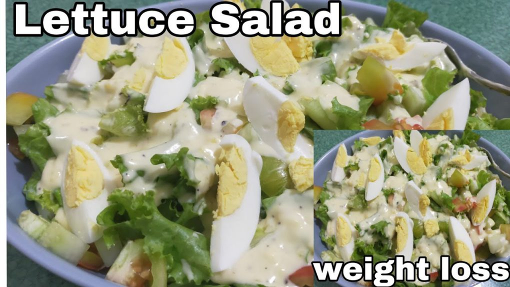 Lettuce Salad Recipes|how to make easy and healthy salad weight loss salad  #howto #lettucesalad